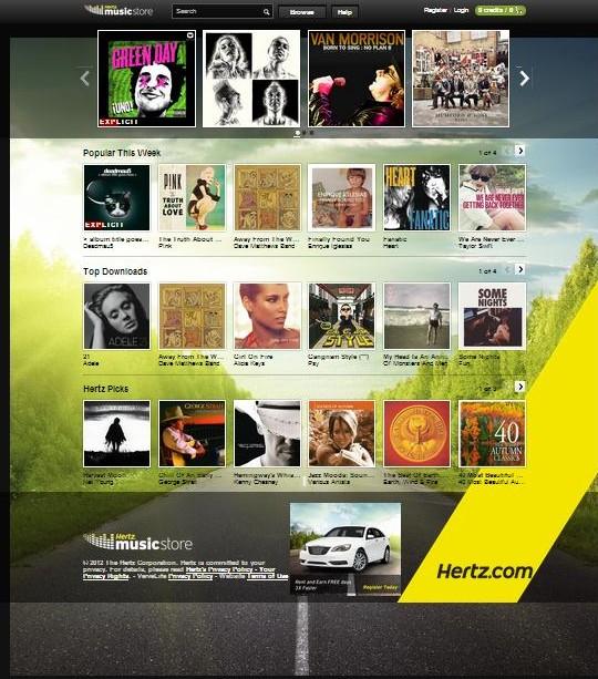 hertz digital music store revolver marketing. Black Bedroom Furniture Sets. Home Design Ideas